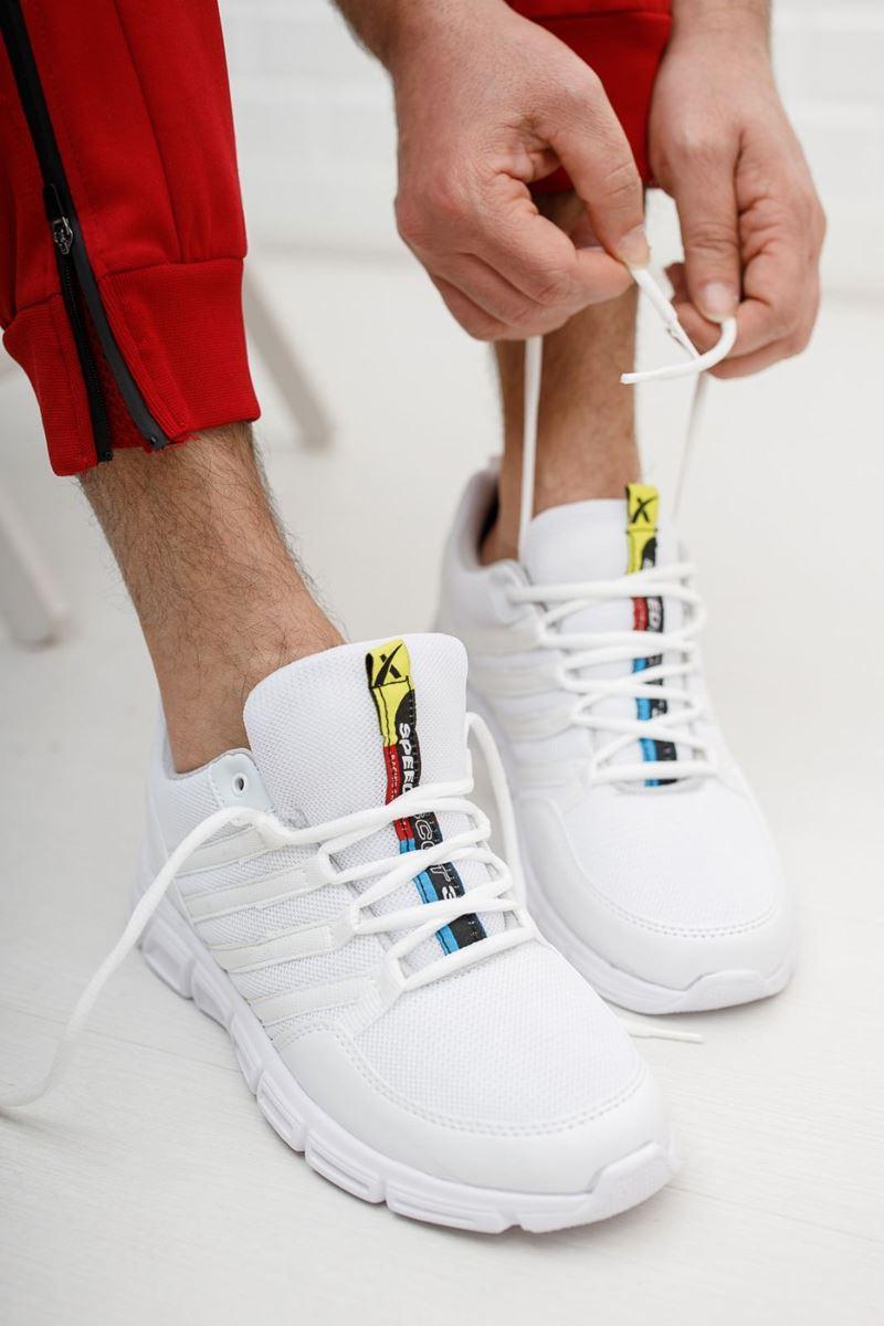صورة 030 Scot Beyaz Faylon Taban Yazlık Spor Ayakkabı