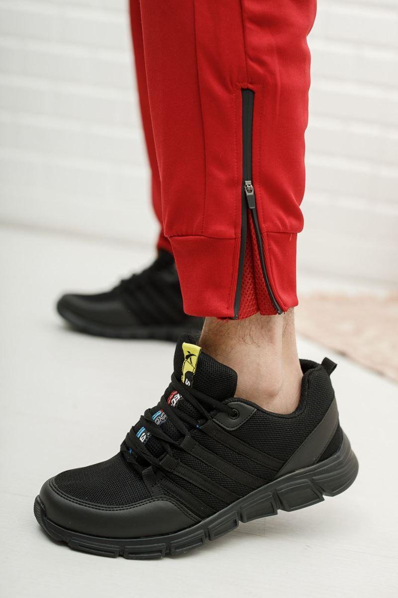 030 Scot Siyah Beyaz Faylon Taban Yazlık Spor Ayakkabı resmi