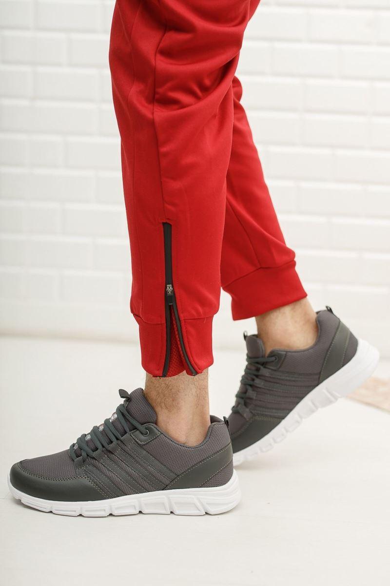 030 Scot Gri Faylon Taban Yazlık Spor Ayakkabı resmi