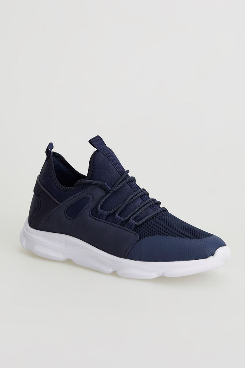 Picture of 1636 Forza Navy Blue White Faylon Sole Men Sport Shoes