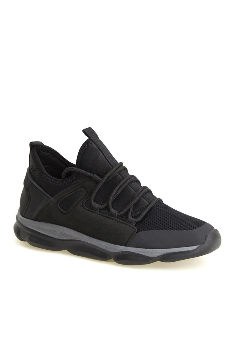 Picture of 1636 Forza Black and Black Faylon Sole Men's Sport Shoes