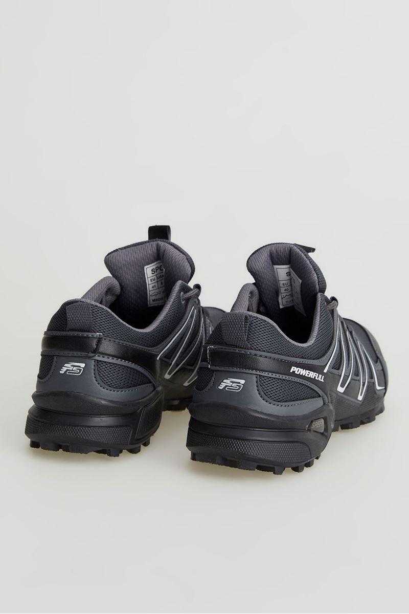 صورة 1661 Forza Füme Beyaz Siyah Faylon Taban Erkek Spor Ayakkabı