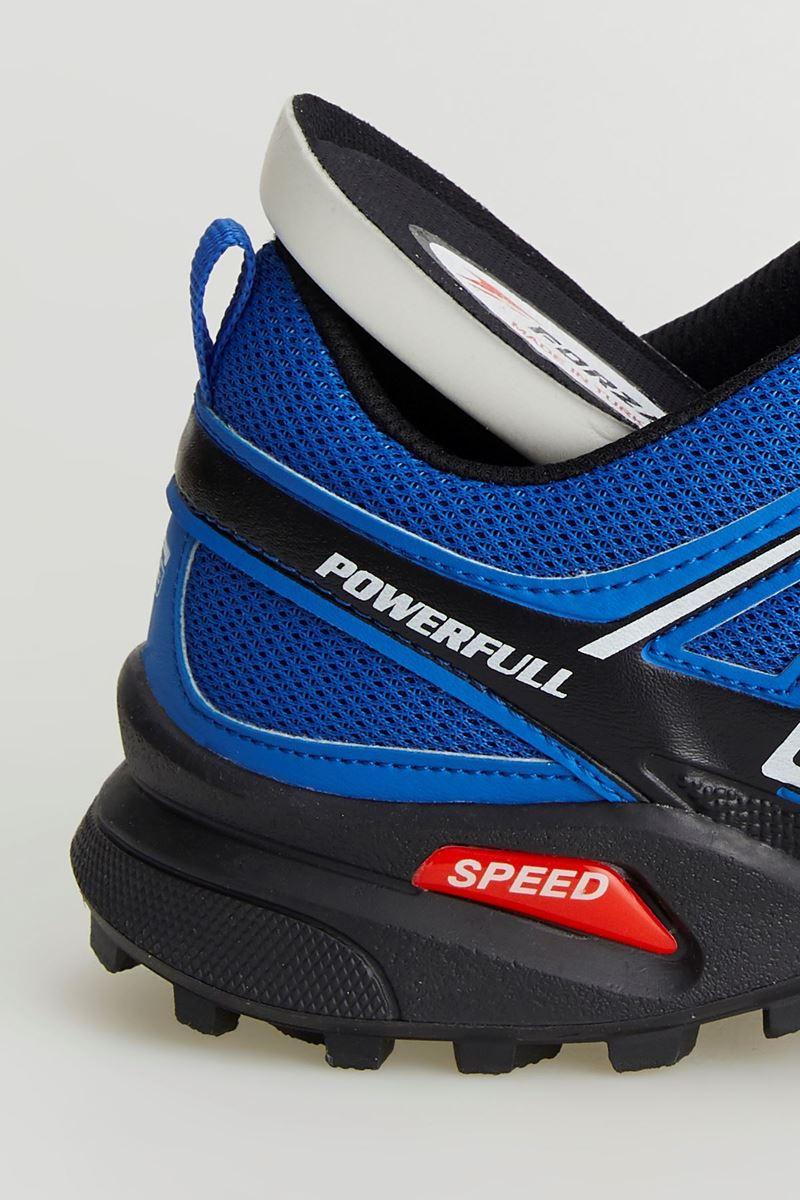 1661 Forza Saks Mavi Beyaz Siyah Faylon Taban Erkek Spor Ayakkabı resmi