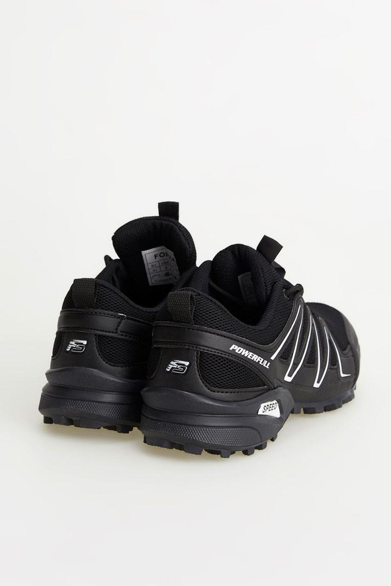 1661 Forza Siyah Beyaz Siyah Faylon Taban Erkek Spor Ayakkabı resmi