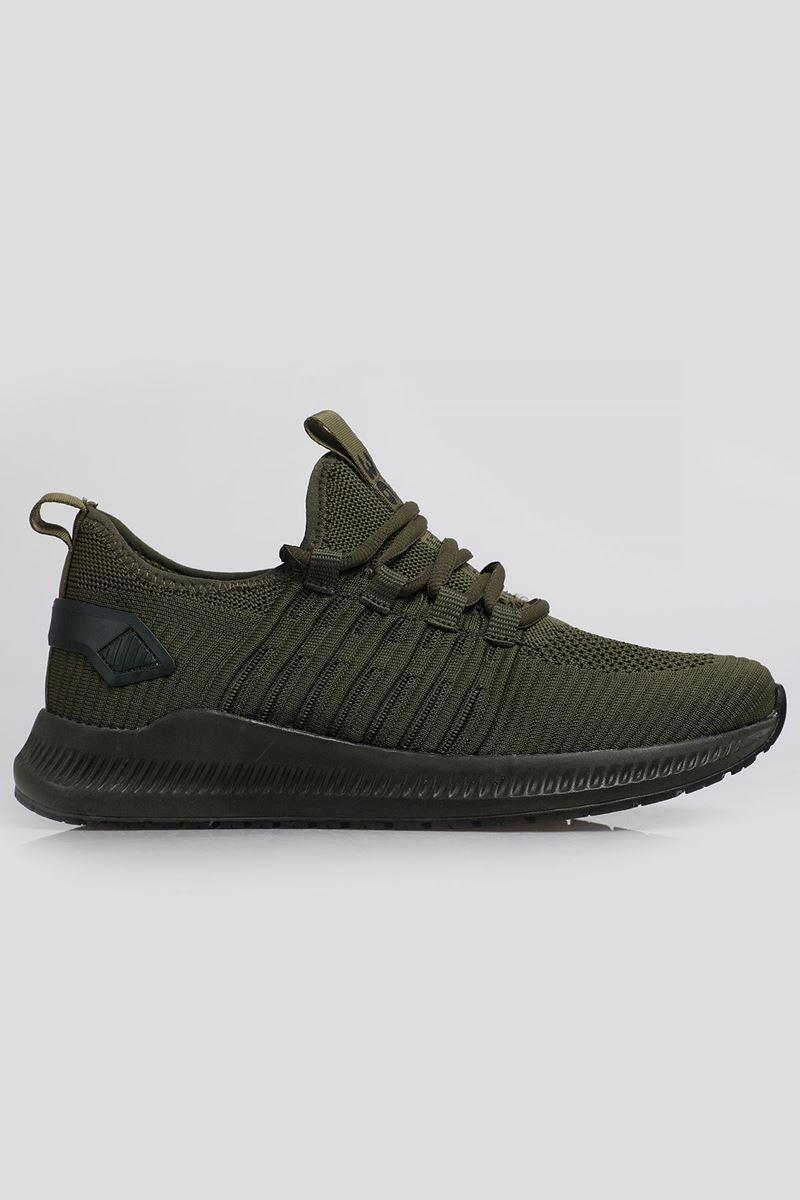1698 Haki Siyah Faylon Taban Erkek Spor Ayakkabı resmi