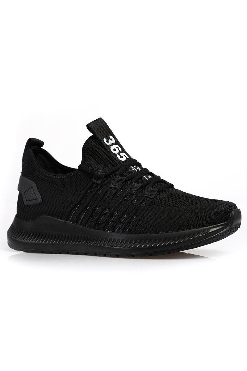 1698 Haki Siyah Siyah Taban Erkek Spor Ayakkabı resmi