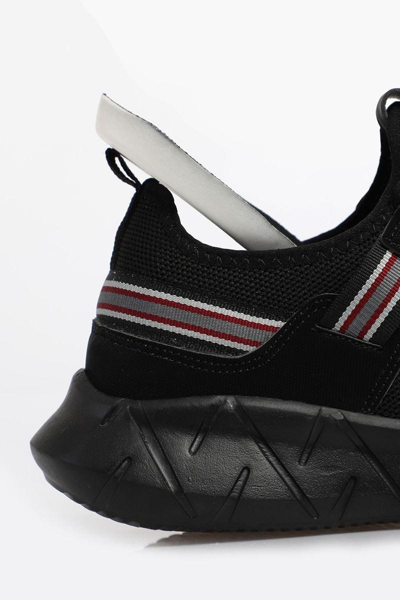 صورة 2116  Forza Siyah Siyah Faylon Taban Erkek Spor Ayakkabı