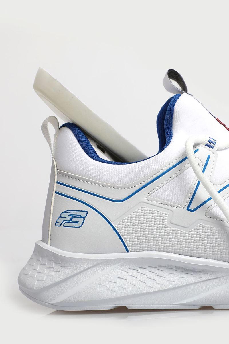 2168 Forza Beyaz Saks Mavisi Faylon Taban Erkek Spor Ayakkabı resmi