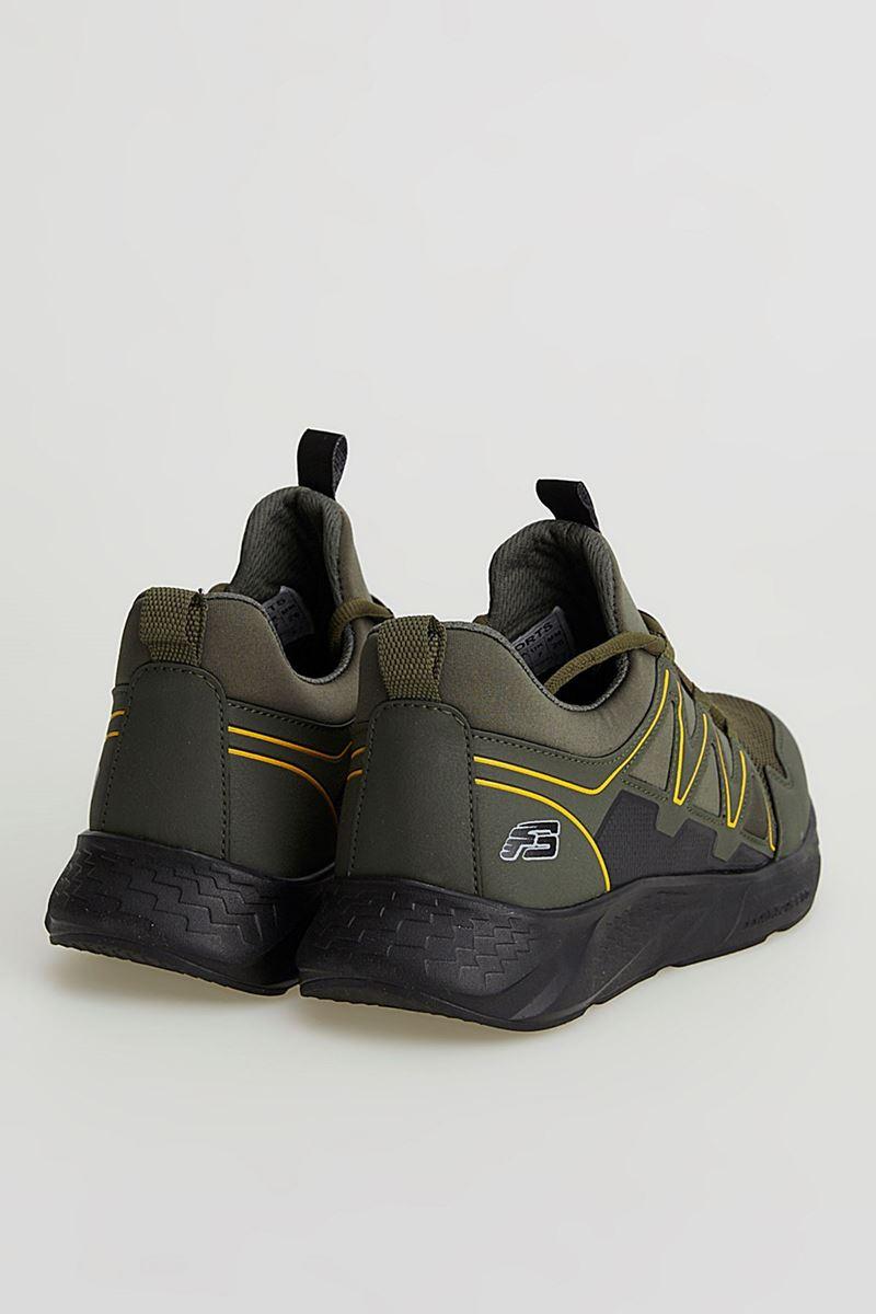 2168 Forza Haki Siyah Faylon Taban Erkek Spor Ayakkabı resmi