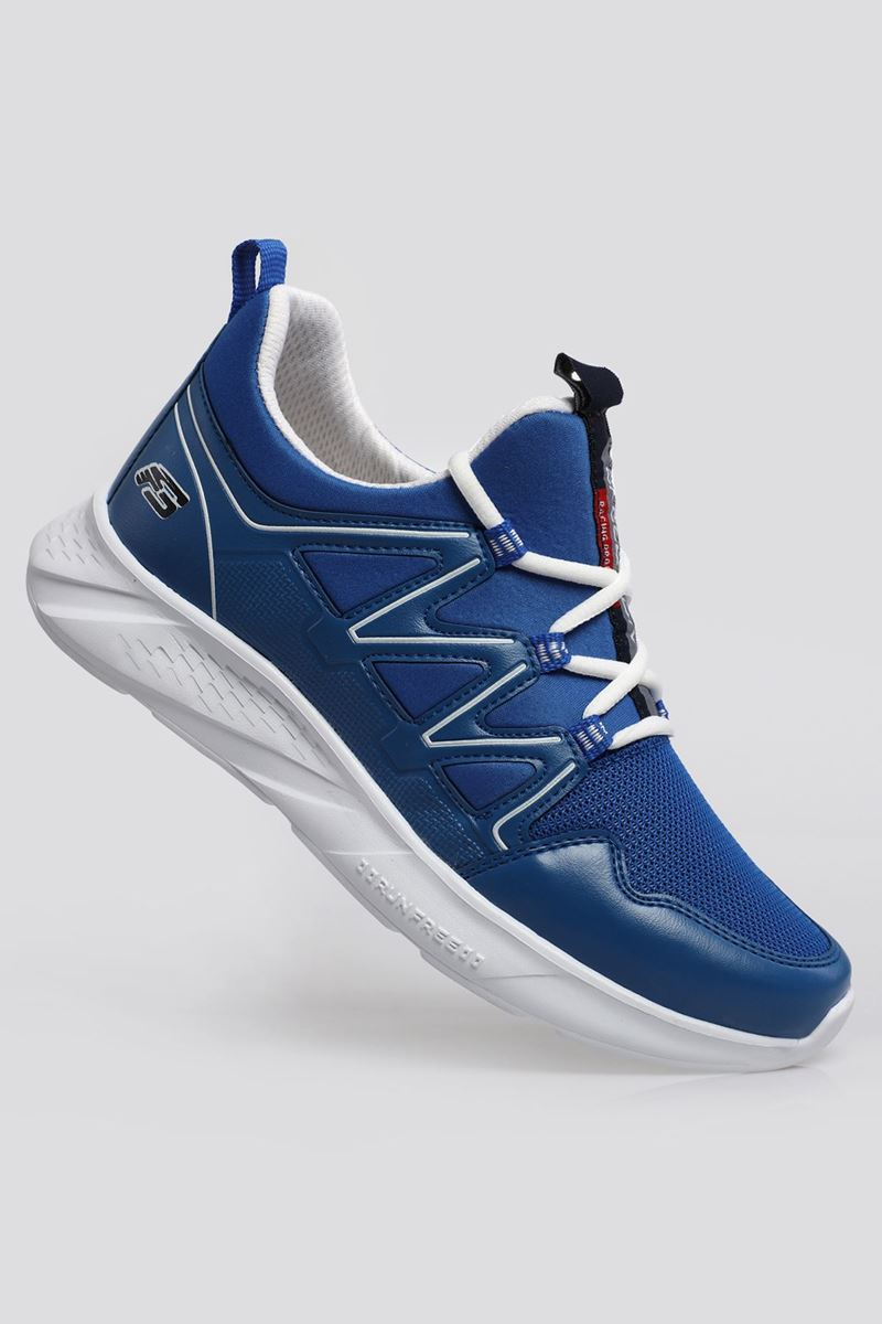 2168 Forza Saks Mavisi Beyaz  Faylon Taban Erkek Spor Ayakkabı resmi