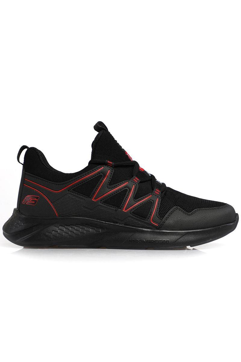 2168 Forza Siyah Kırmızı Faylon Taban Erkek Spor Ayakkabı resmi