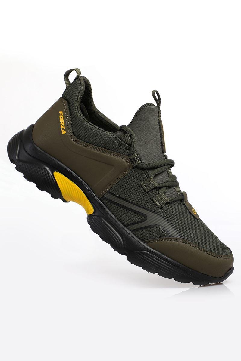 2192 Forza Haki Siyah Sarı Taban Erkek Spor Ayakkabı resmi