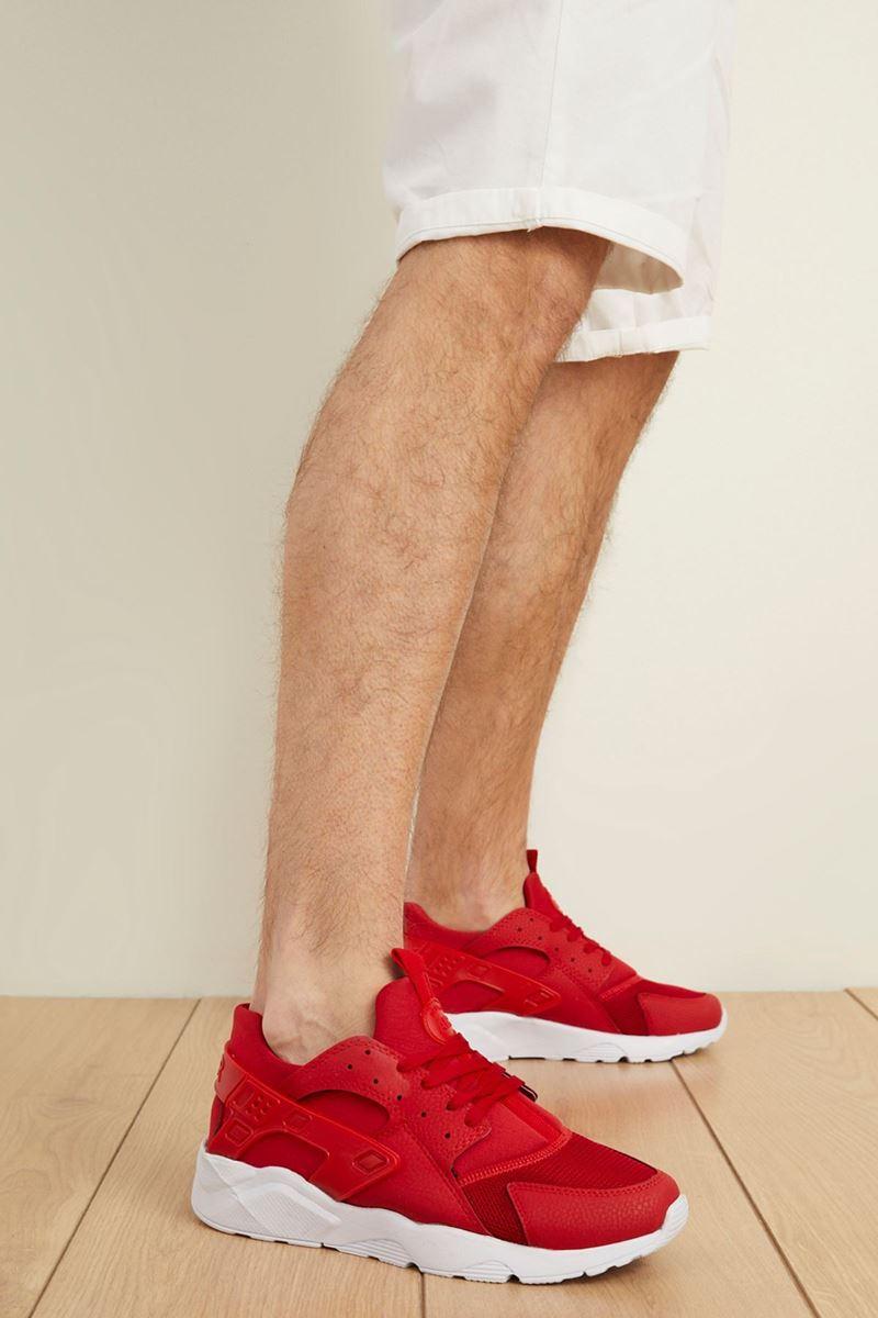 صورة 18726 Forza Kırmızı Beyaz Faylon Taban Erkek Spor Ayakkabı