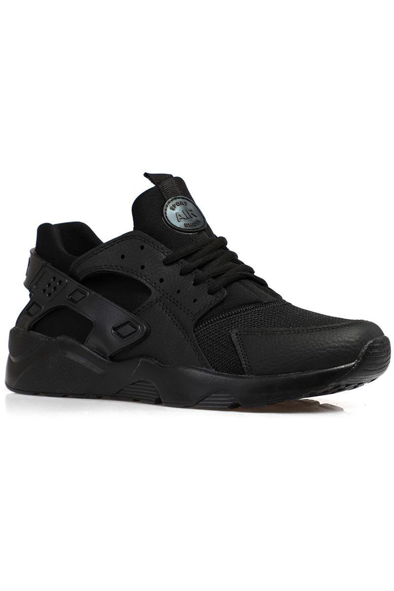 18726 Forza Siyah Siyah Faylon Taban Erkek Spor Ayakkabı resmi