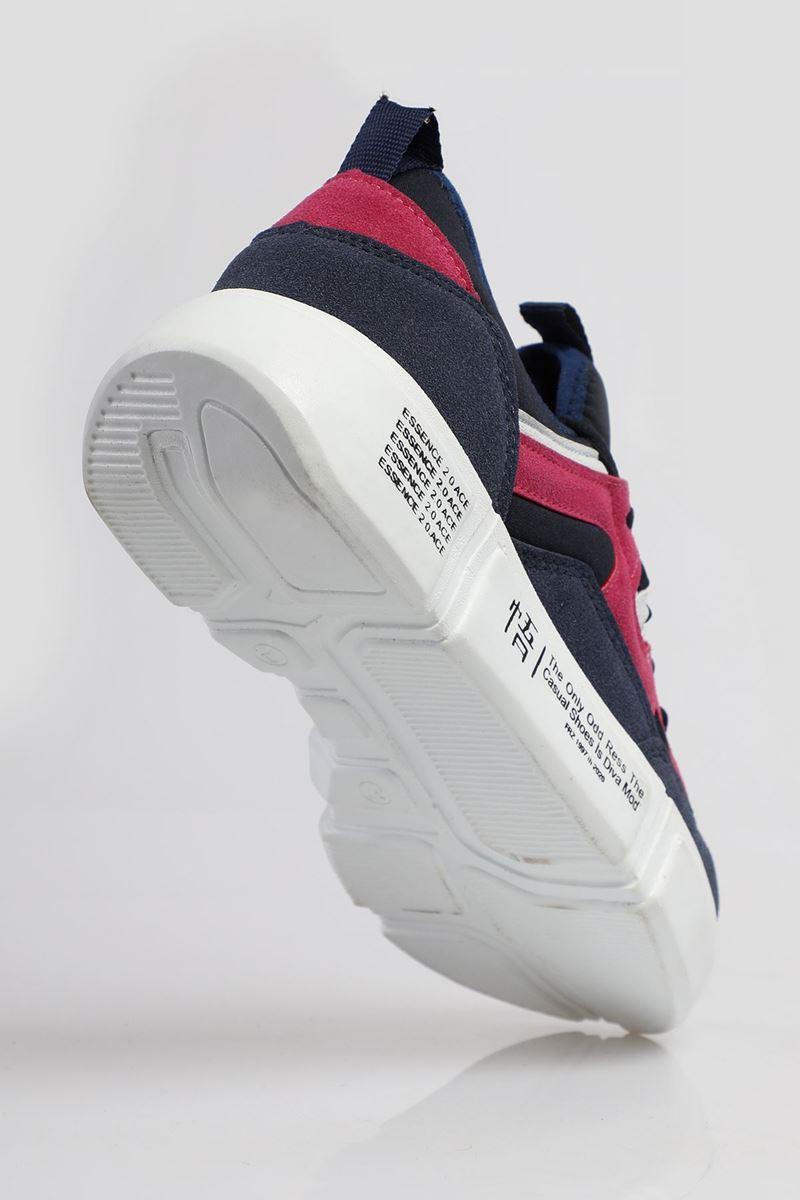 19805 Forza Lacivert Fuşya Beyaz Faylon Taban Erkek Spor Ayakkabı resmi