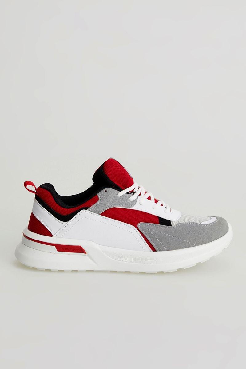 19809 Forza Beyaz Kırmızı Faylon Taban Erkek Spor Ayakkabı resmi