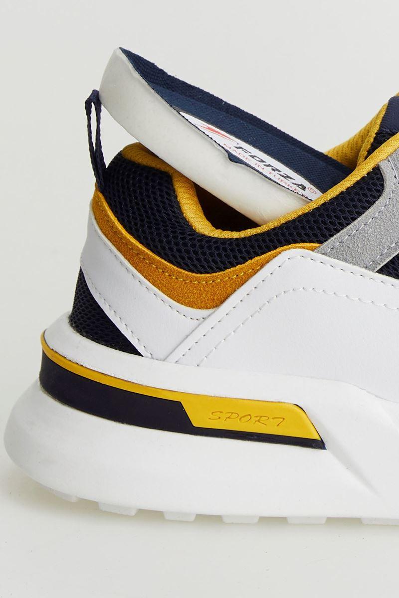 19809 Forza Buz Lacivert Sarı Faylon Taban Erkek Spor Ayakkabı resmi