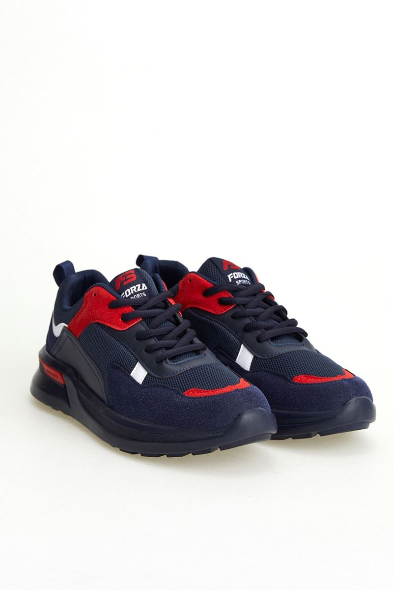 19809 Forza Lacivert Kırmızı Faylon Taban Erkek Spor Ayakkabı resmi