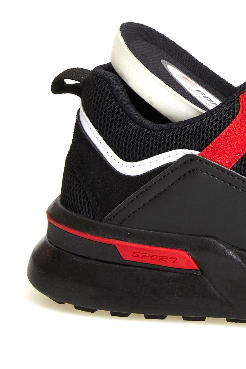 صورة 19809 Forza Siyah Kırmızı Faylon Taban Erkek Spor Ayakkabı