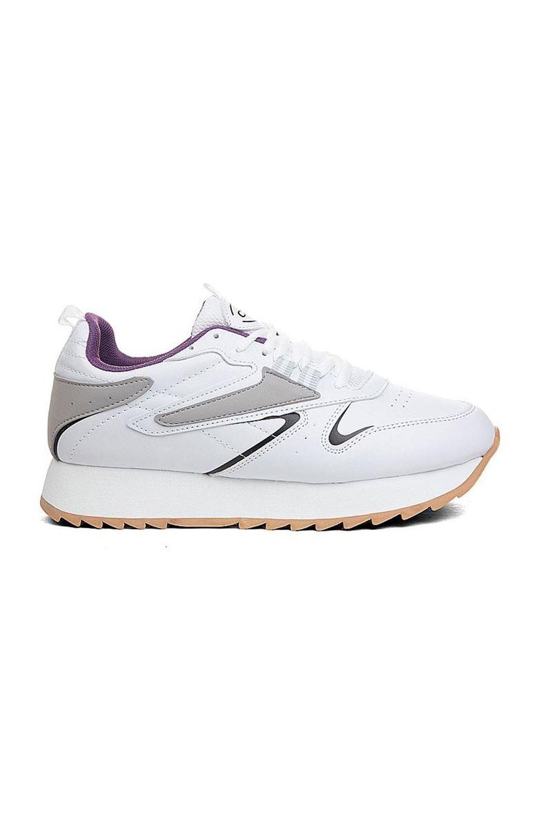 5208 Conpax Beyaz Buz Mor Kadın Ayakkabı resmi