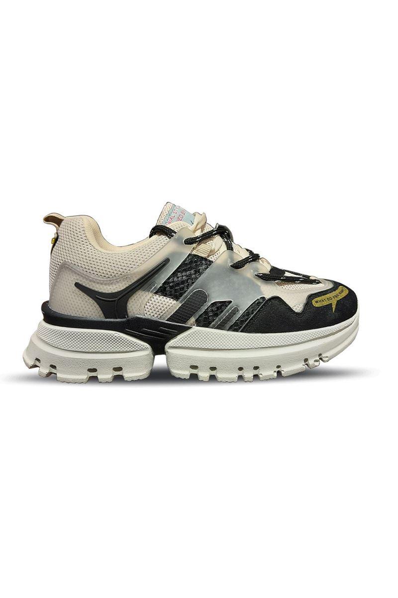 5154 Conpax Bej Siyah Kadın Ayakkabı resmi