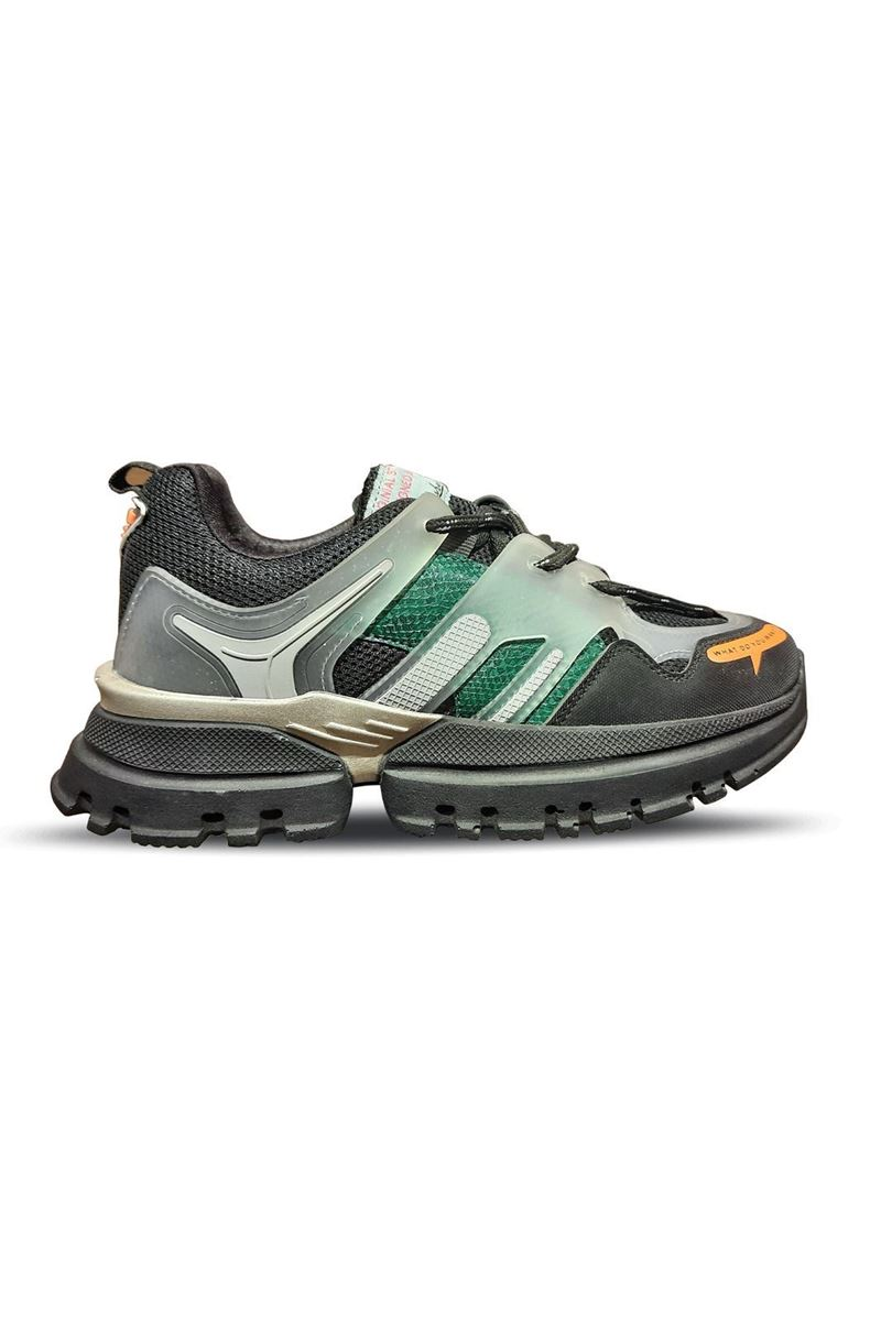Picture of 5154 Conpax Black Green Women Shoes