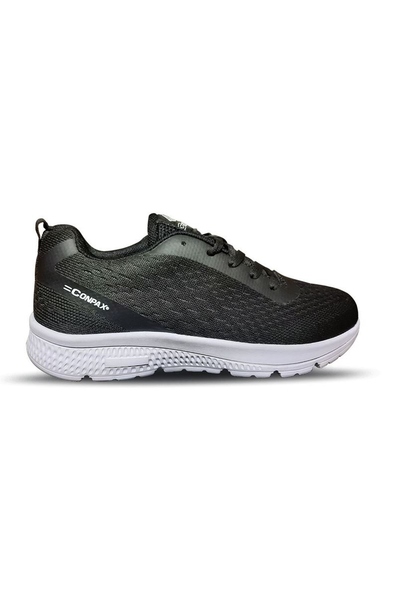 5192 Conpax Siyah Beyaz Kadın Ayakkabı resmi