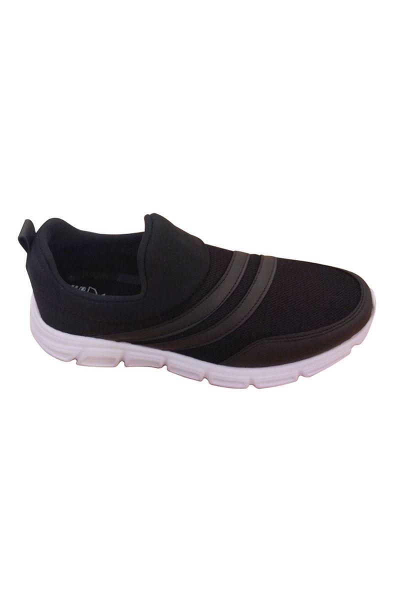 صورة Scot Siyah Beyaz Faylon Taban Yazlık Spor Ayakkabı