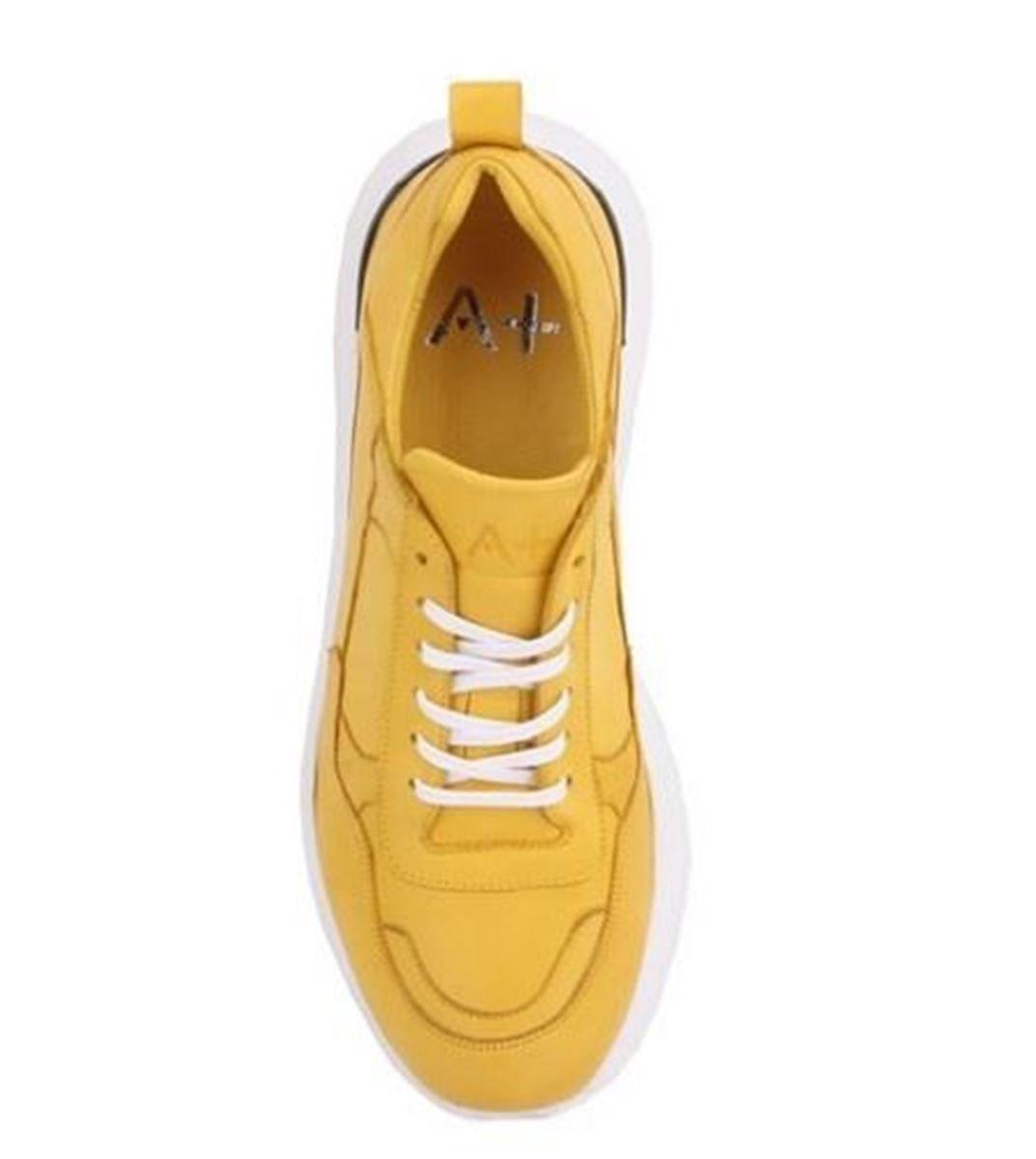 Picture of Sail Lakers - Hakiki Deri Sarı Yüksek Taban Erkek Sneaker
