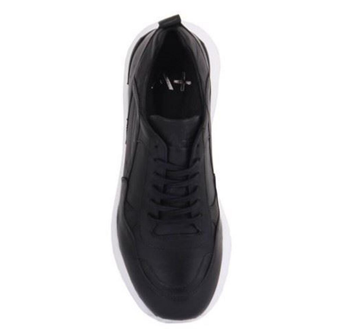 Picture of Sail Lakers - Hakiki Deri Siyah Yüksek Taban Erkek Sneaker