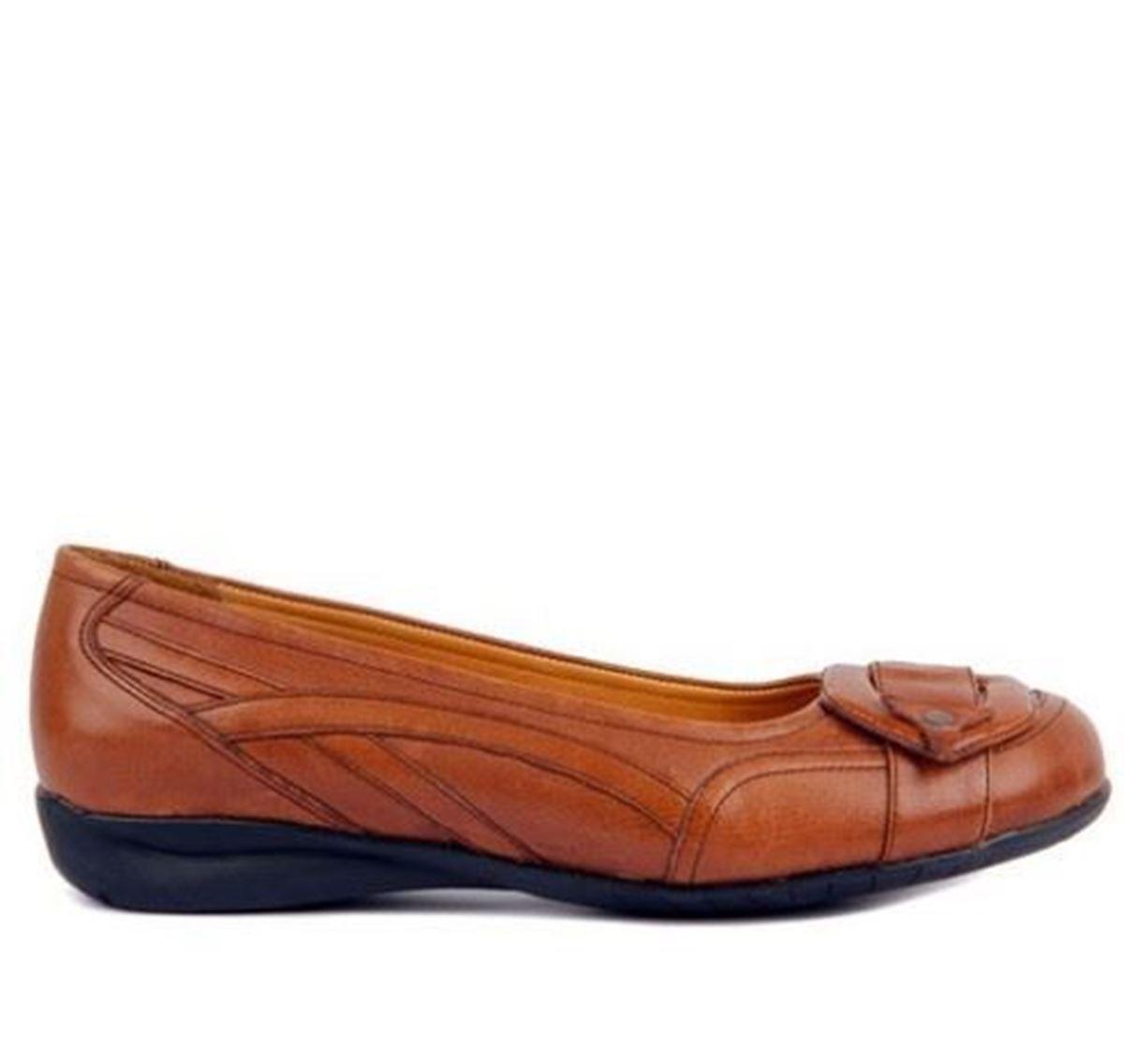 King Paolo - Taba Rengi Comfort Kadın Günlük Ayakkabı resmi