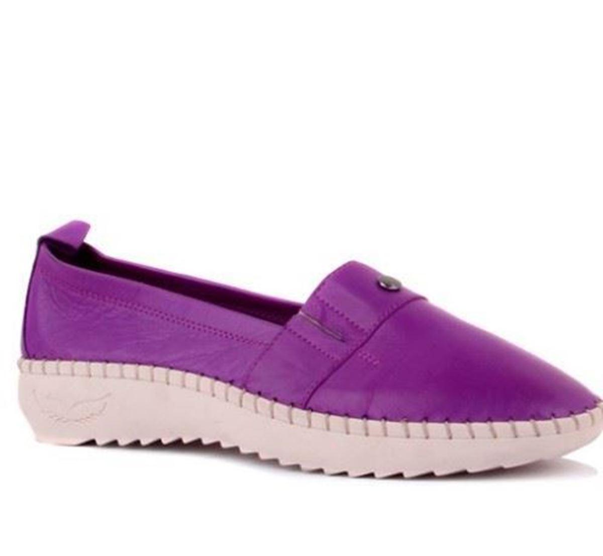 Picture of Sail Lakers - Mor Deri Kadın Günlük Ayakkabı