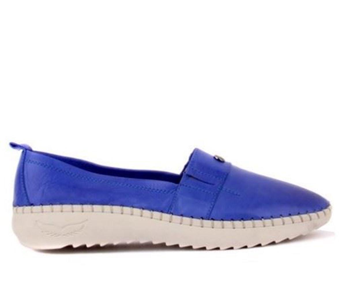 صورة Sail Lakers - Saks Mavisi Deri Kadın Günlük Ayakkabı