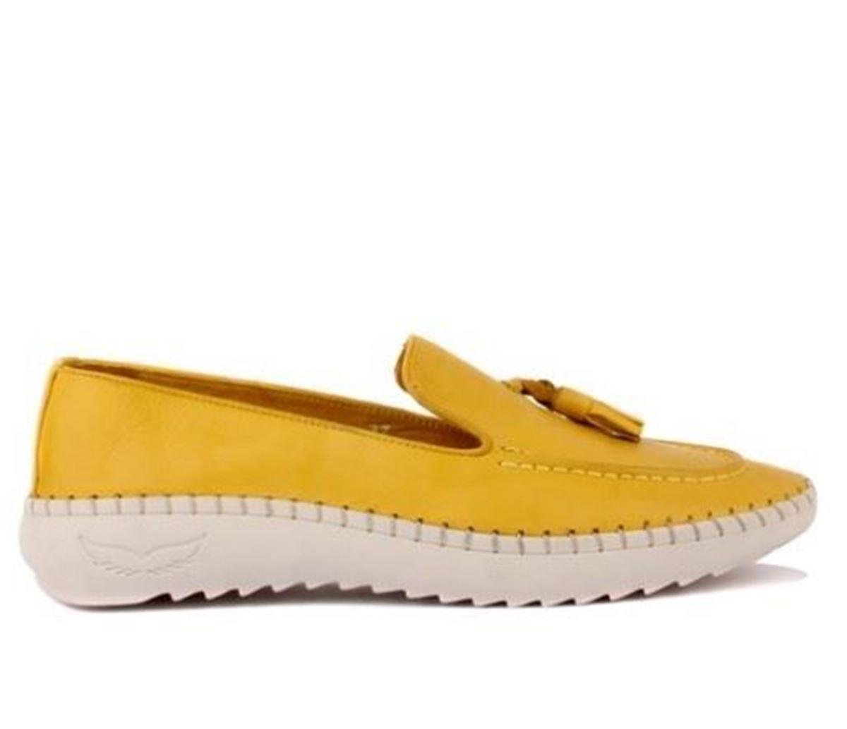 صورة Sail Lakers - Sarı Deri Kadın Günlük Ayakkabı