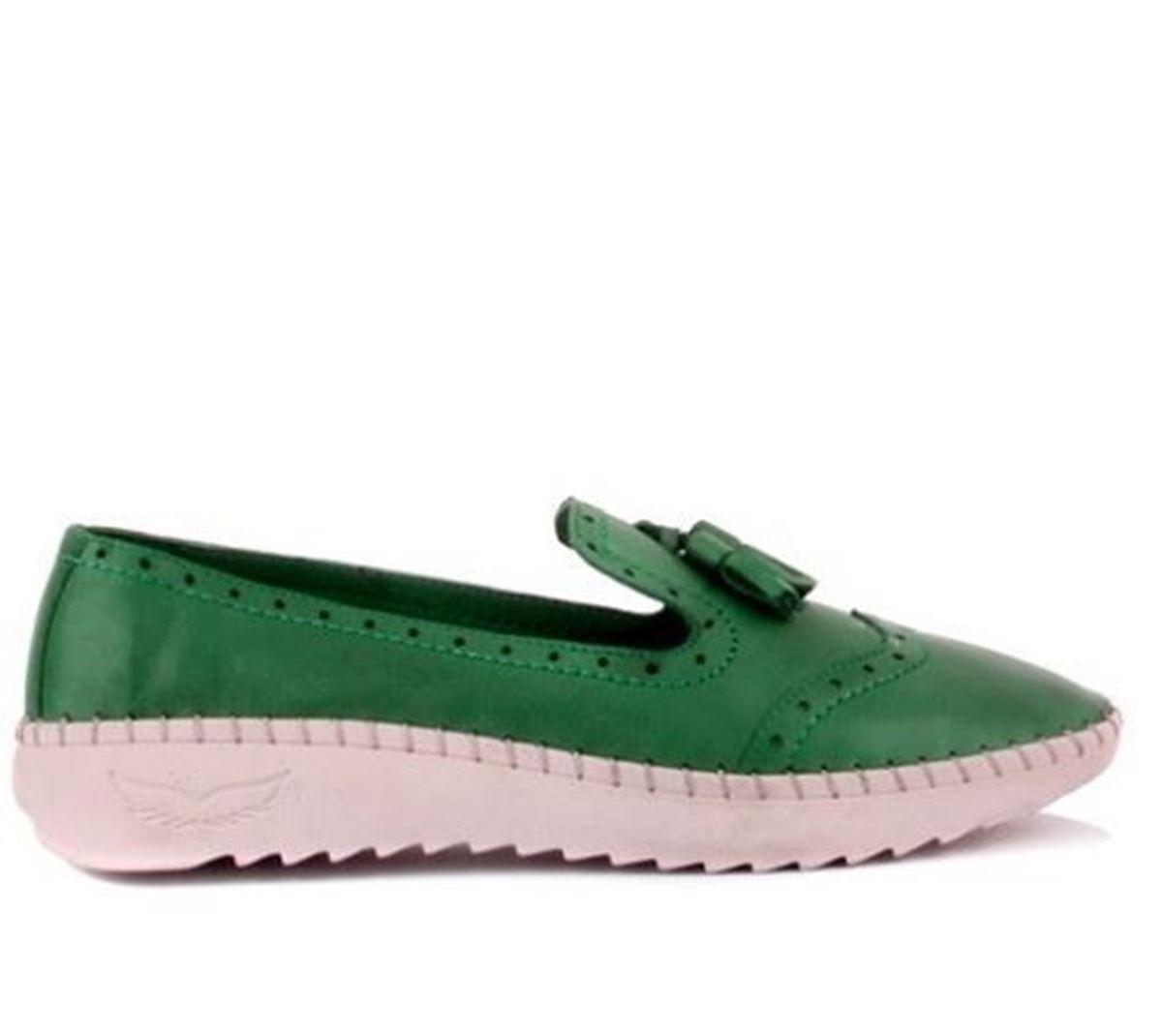 Picture of Sail Lakers - Yeşil Deri Kadın Günlük Ayakkabı