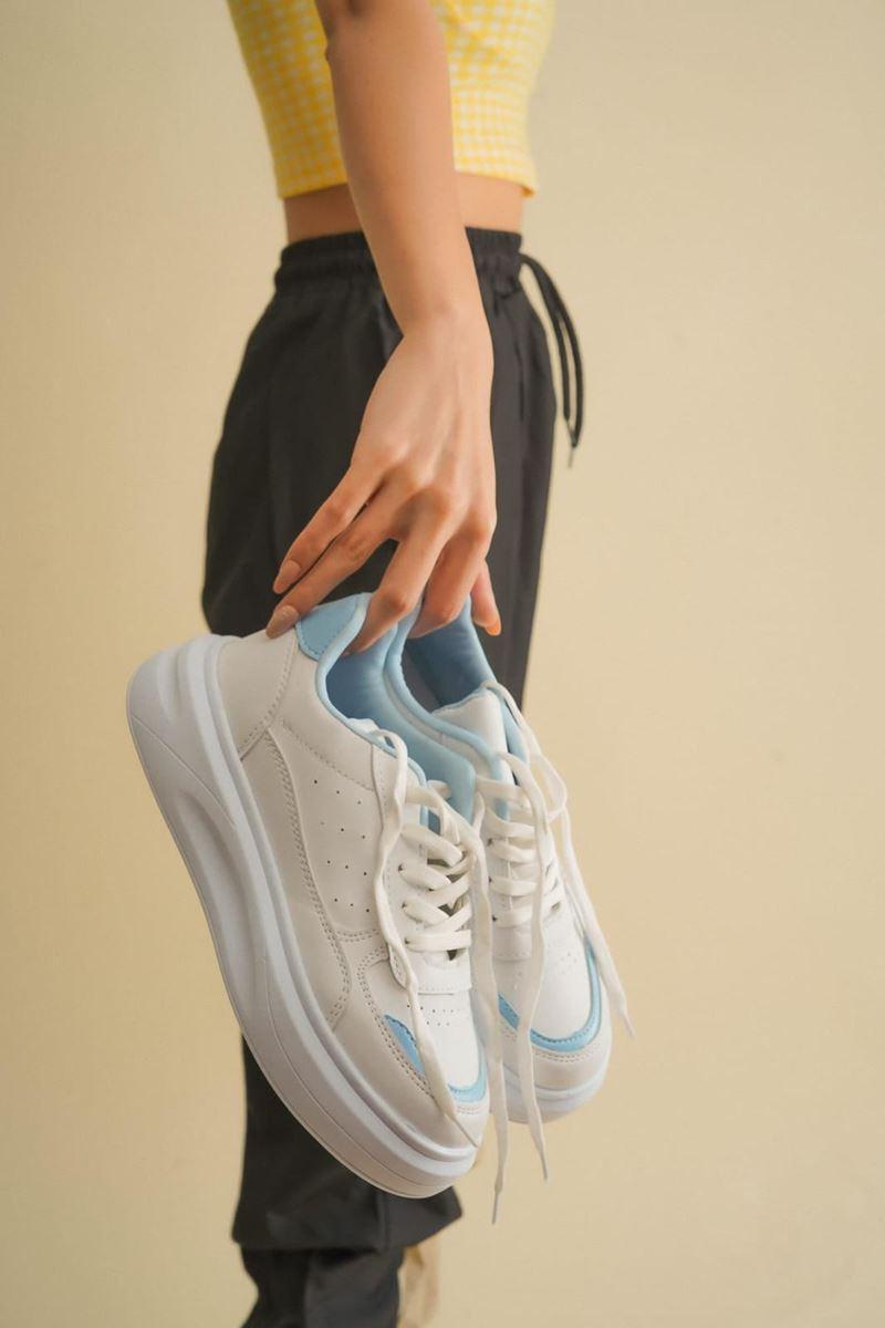 Picture of Pilla Beyaz Mavi Ayakkabı