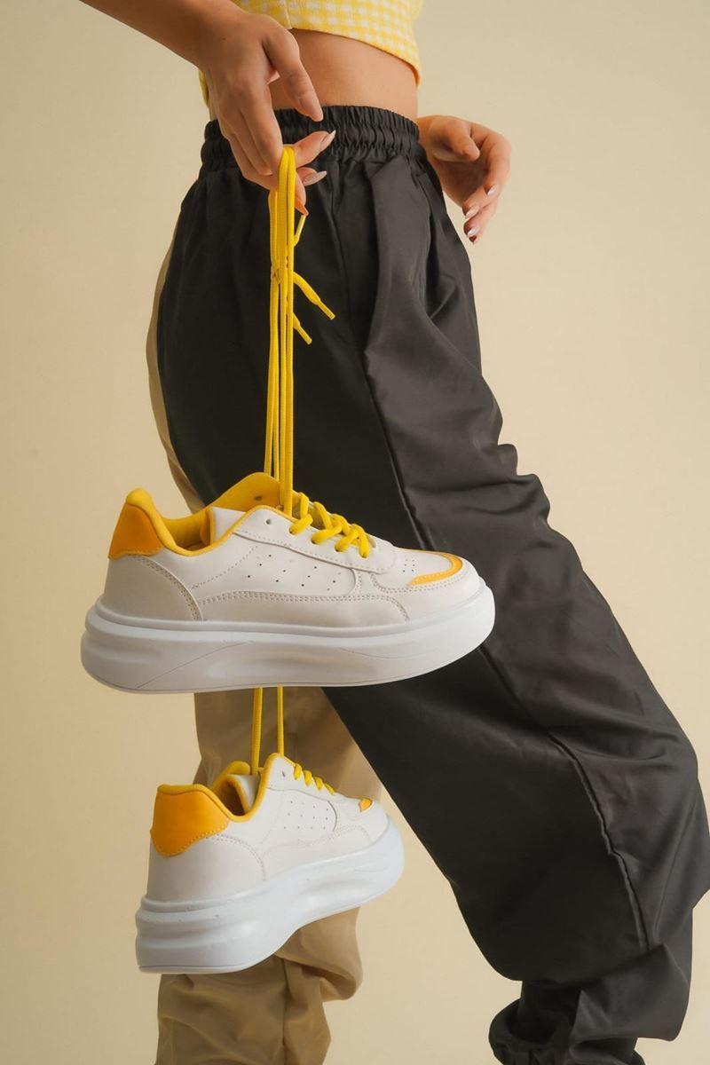 صورة Pilla Beyaz Sarı Ayakkabı