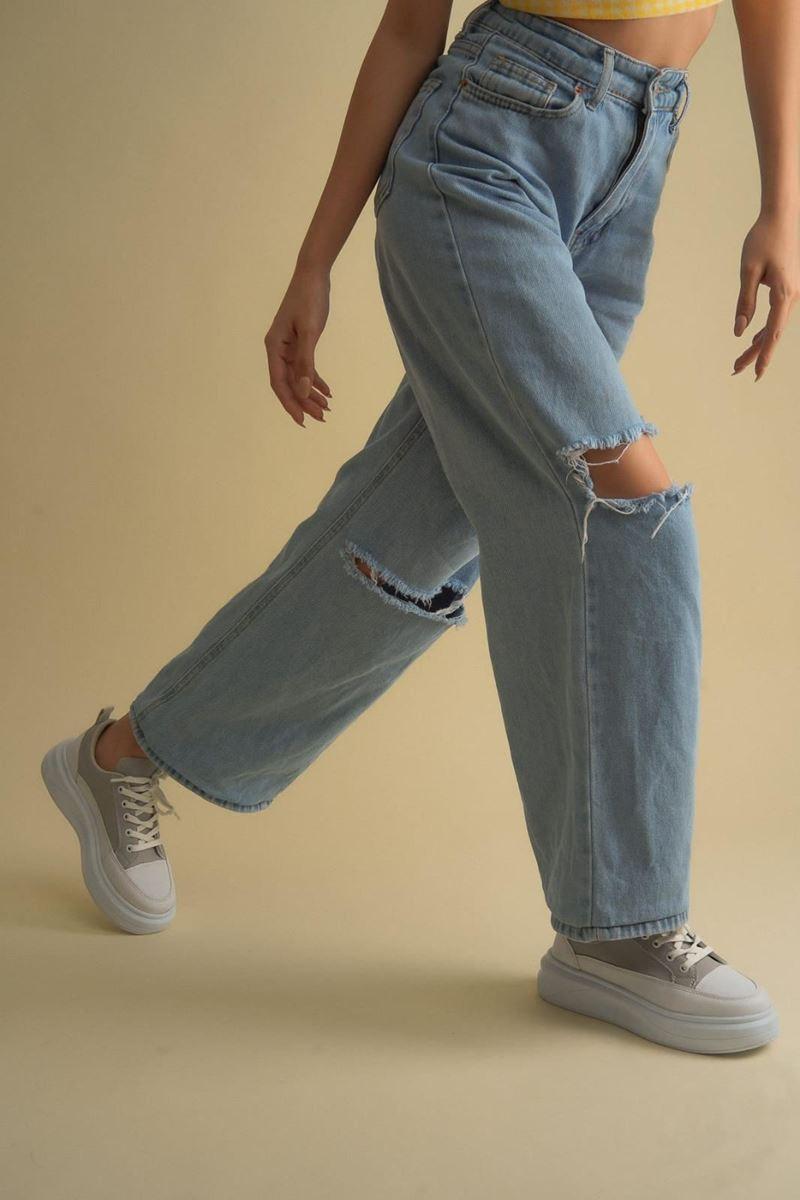 Pilla Koyu Gri Beyaz Kadın Ayakkabı resmi