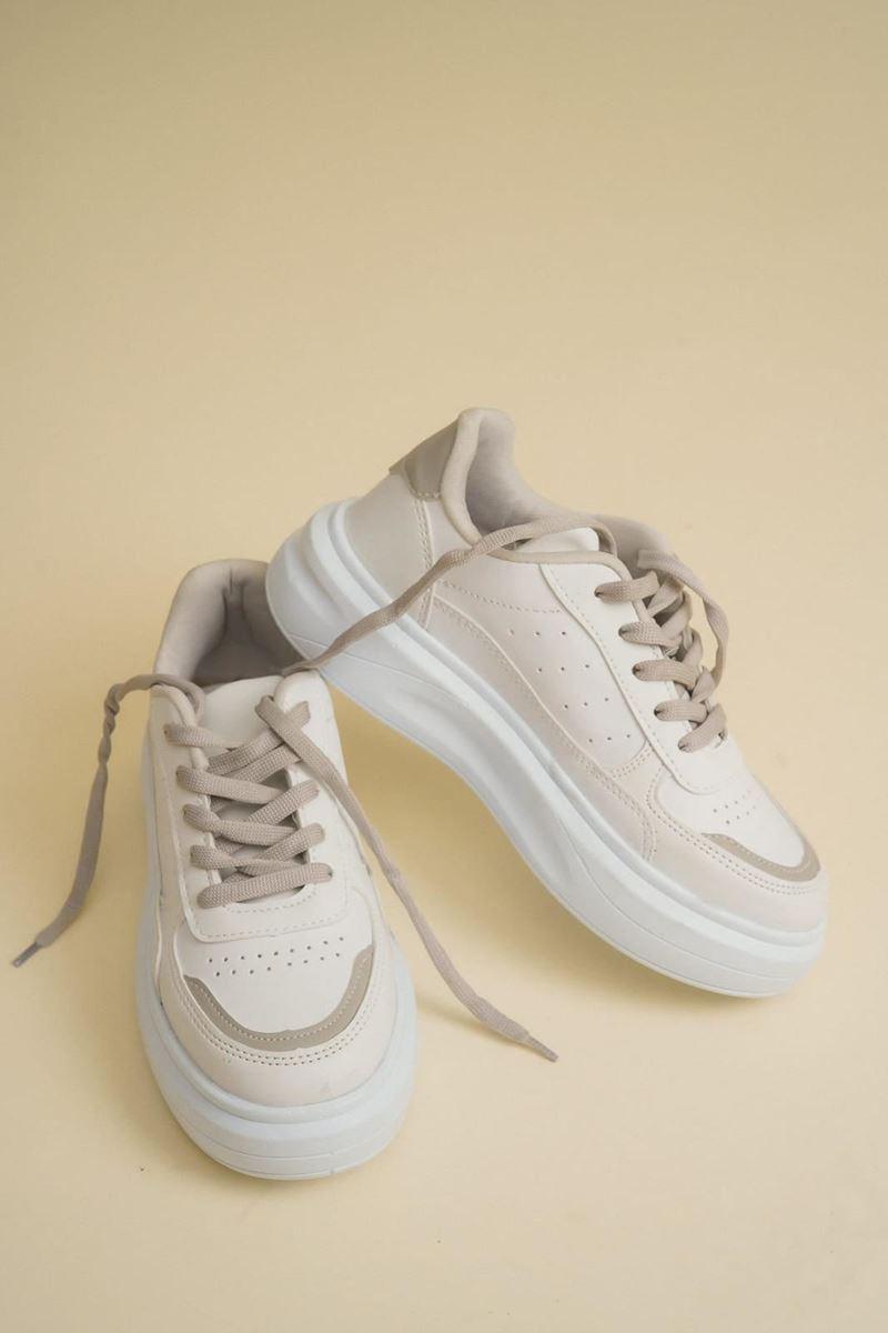 Picture of Pilla Koyu Gri Beyaz Kadın Ayakkabı