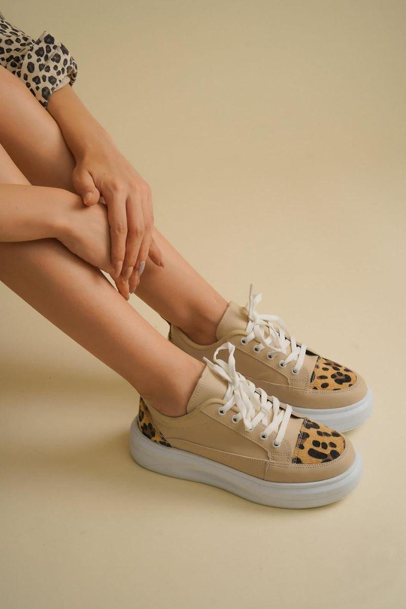 Pilla Kahverengi Leopar Kadın Ayakkabı resmi