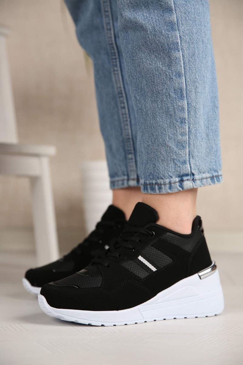 Pilla Siyah Kadın Ayakkabı resmi