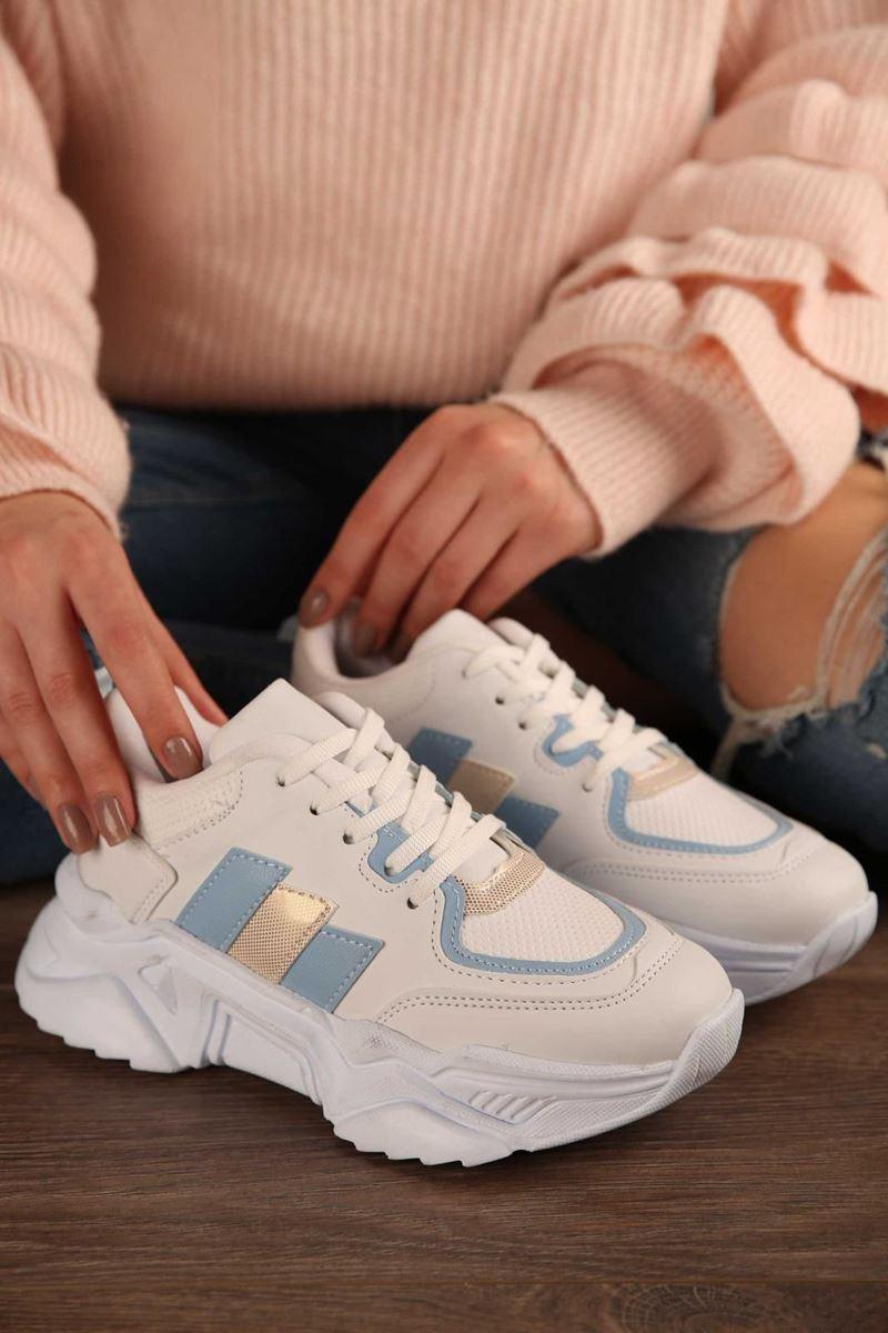 صورة Pilla Krem Kadın Ayakkabı