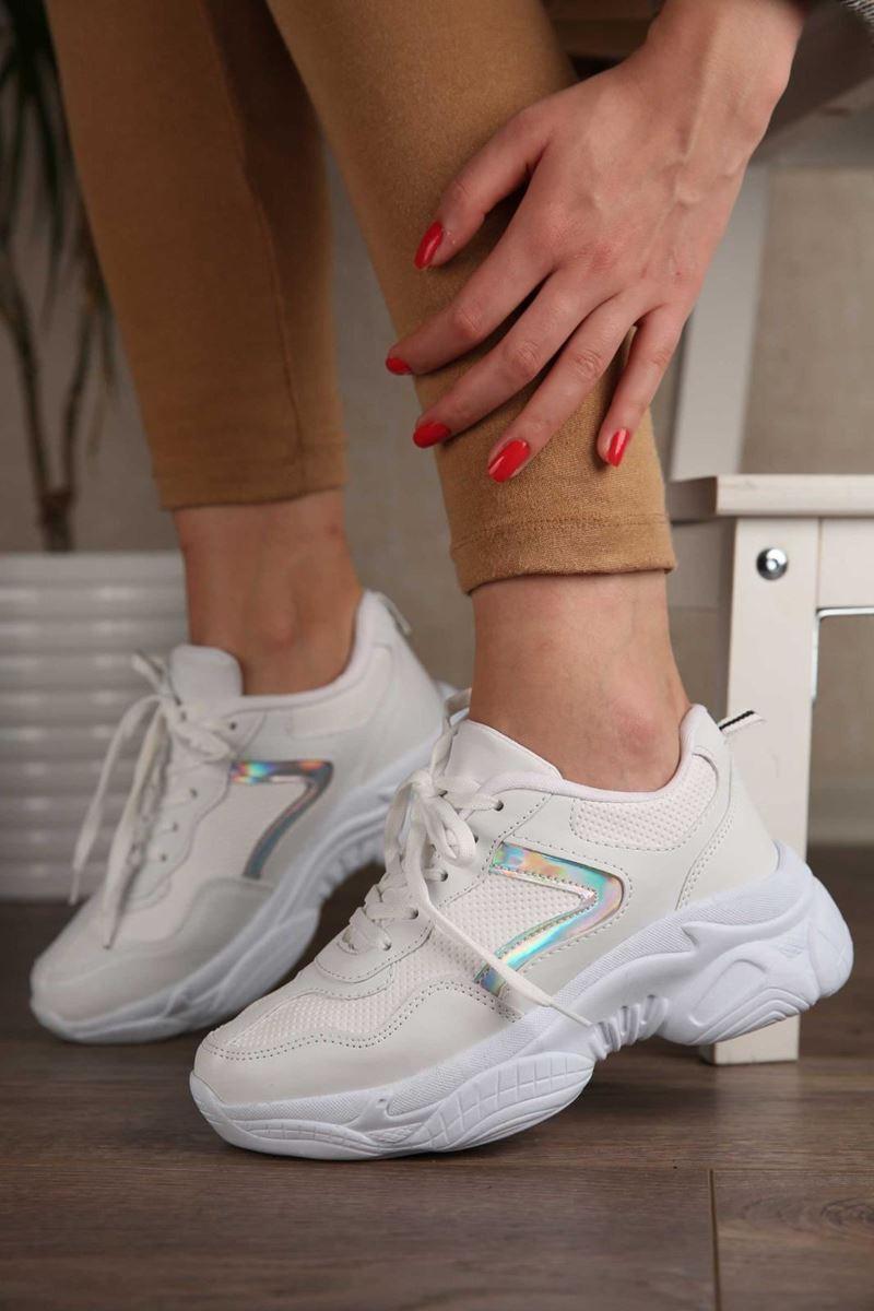 Pilla Beyaz Beyaz Kadın Ayakkabı resmi